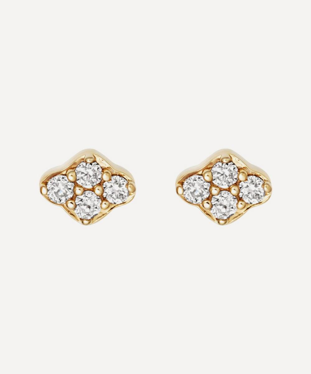 Gold Mini Interstellar Cluster Diamond Stud Earrings