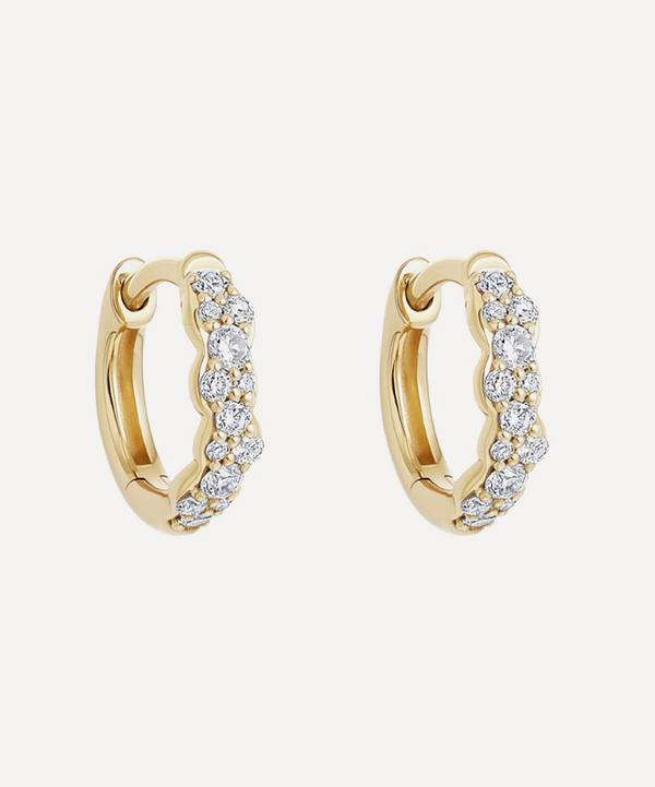 Astley Clarke - 14ct Gold Mini Interstellar Diamond Hoop Earrings