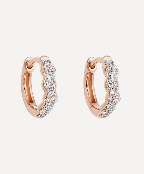Astley Clarke - 14ct Rose Gold Mini Interstellar Diamond Hoop Earrings
