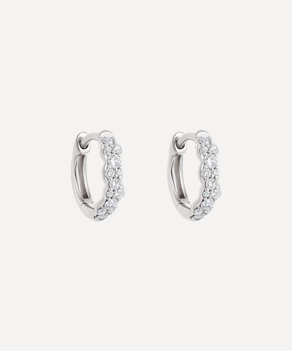 Astley Clarke - 14ct White Gold Mini Interstellar Diamond Hoop Earrings