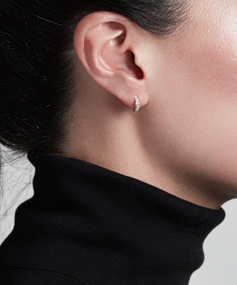 White Gold Mini Interstellar Diamond Hoop Earrings