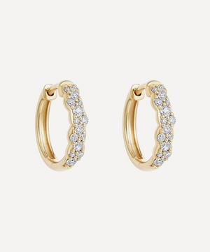 Gold Medium Interstellar Diamond Hoop Earrings