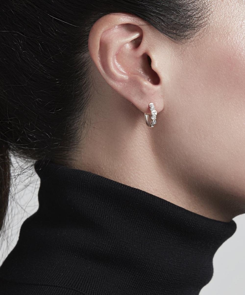 White Gold Medium Interstellar Diamond Hoop Earrings
