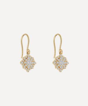 Gold Interstellar Cluster Diamond Drop Earrings