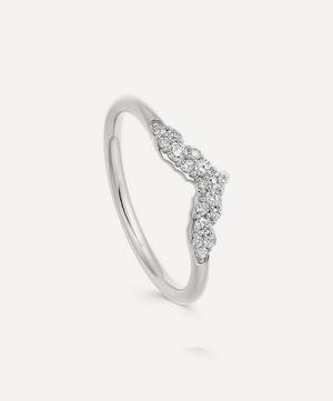 White Gold Interstellar Axel Diamond Ring Jacket