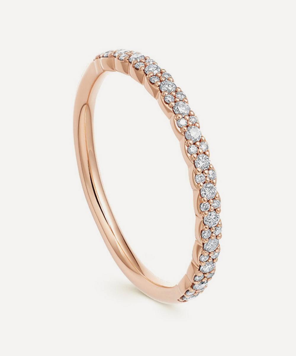 Rose Gold Interstellar Diamond Half Eternity Ring