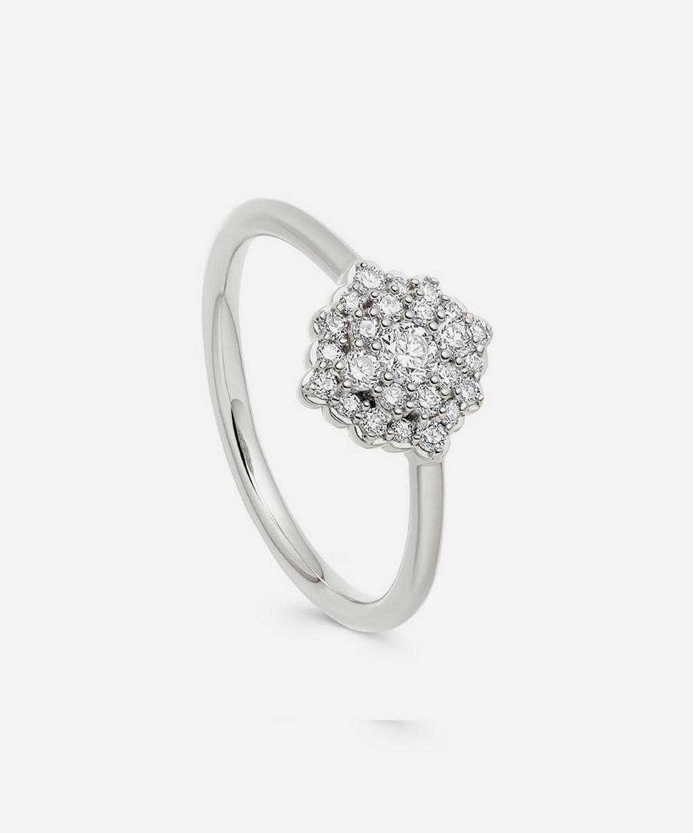 White Gold Large Interstellar Cluster Diamond Ring