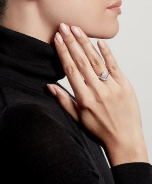 White Gold Large Interstellar Axel Diamond Ring Jacket