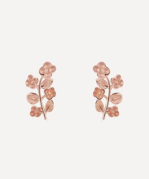 Rose Gold Blossom Stud Earrings