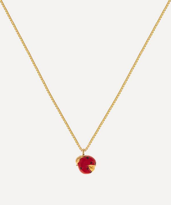 Atelier VM - 18ct Gold Coccinella Enamel Ladybird Pendant Necklace