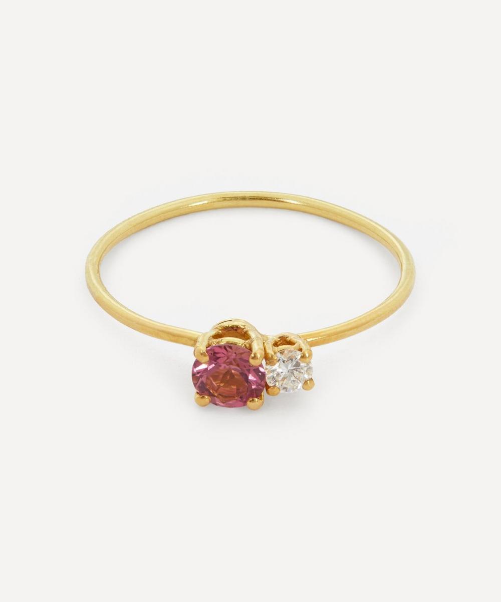 Atelier VM - 18ct Gold Principesca Diamond and Rose Tourmaline Ring