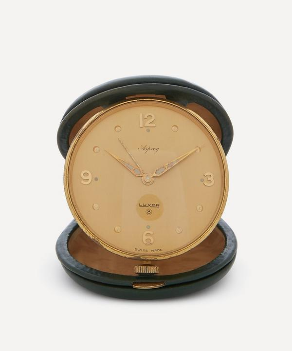 1960s Luxor for Asprey Gilt Travel Alarm Clock
