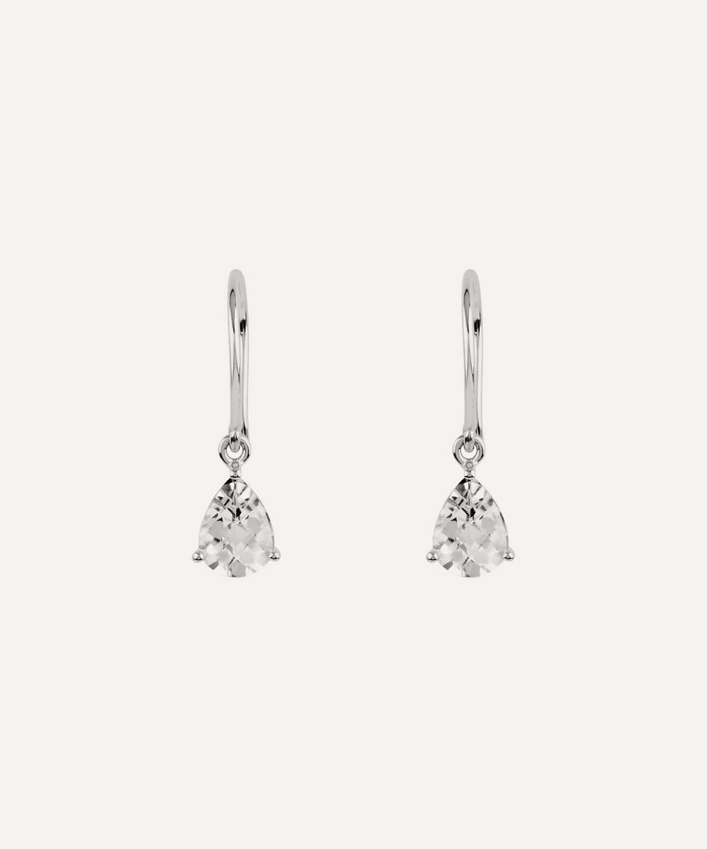 Dinny Hall - Silver Gem Drop White Topaz Earrings