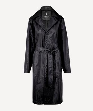 City Belted Shiny Overcoat