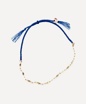 Tea Ovale Cotton and 18ct Gold Chain Bracelet
