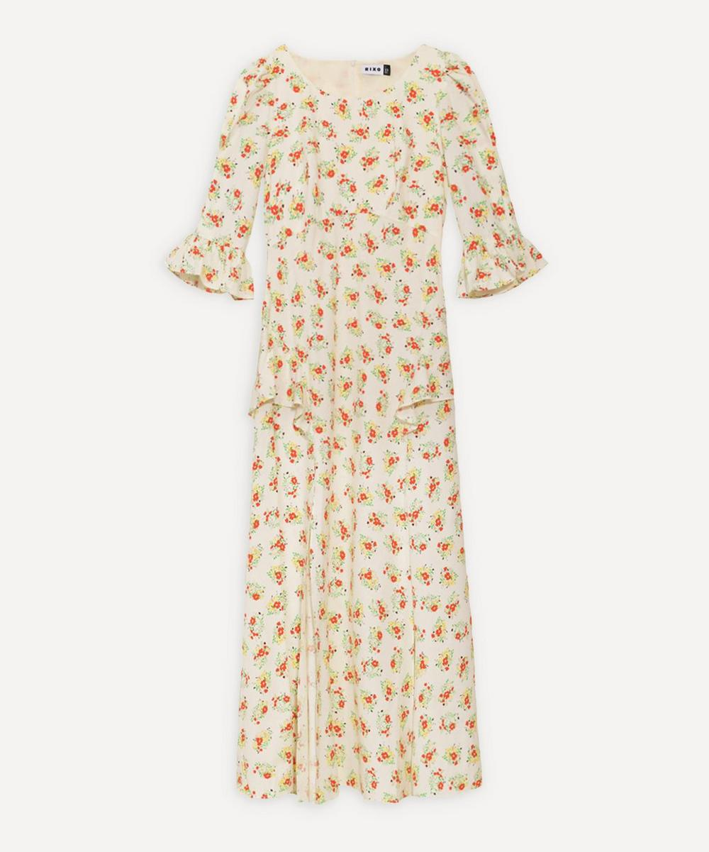 Rixo London QUINN RUFFLE-DETAIL DRESS