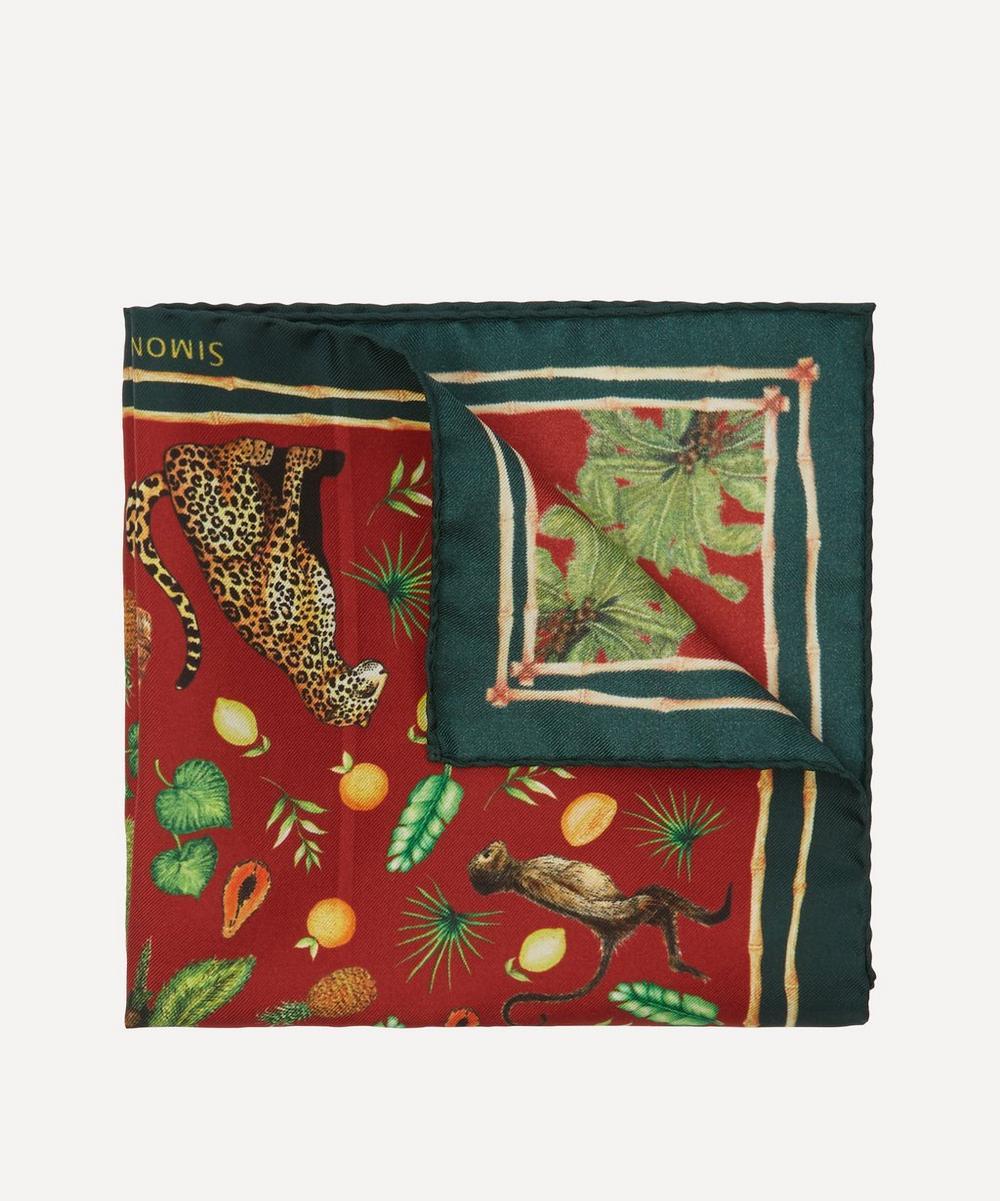 Simon Carter - Tropical Jungle Silk Pocket Square