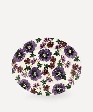 Hollyhock Medium Oval Platter