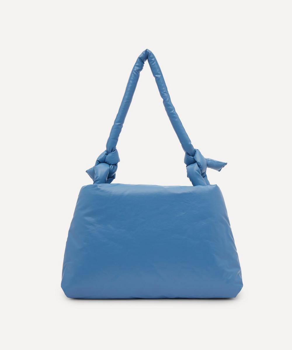 Kassl Editions Bag Lady Oil Light Nylon Shoulder Bag In Sky Blue
