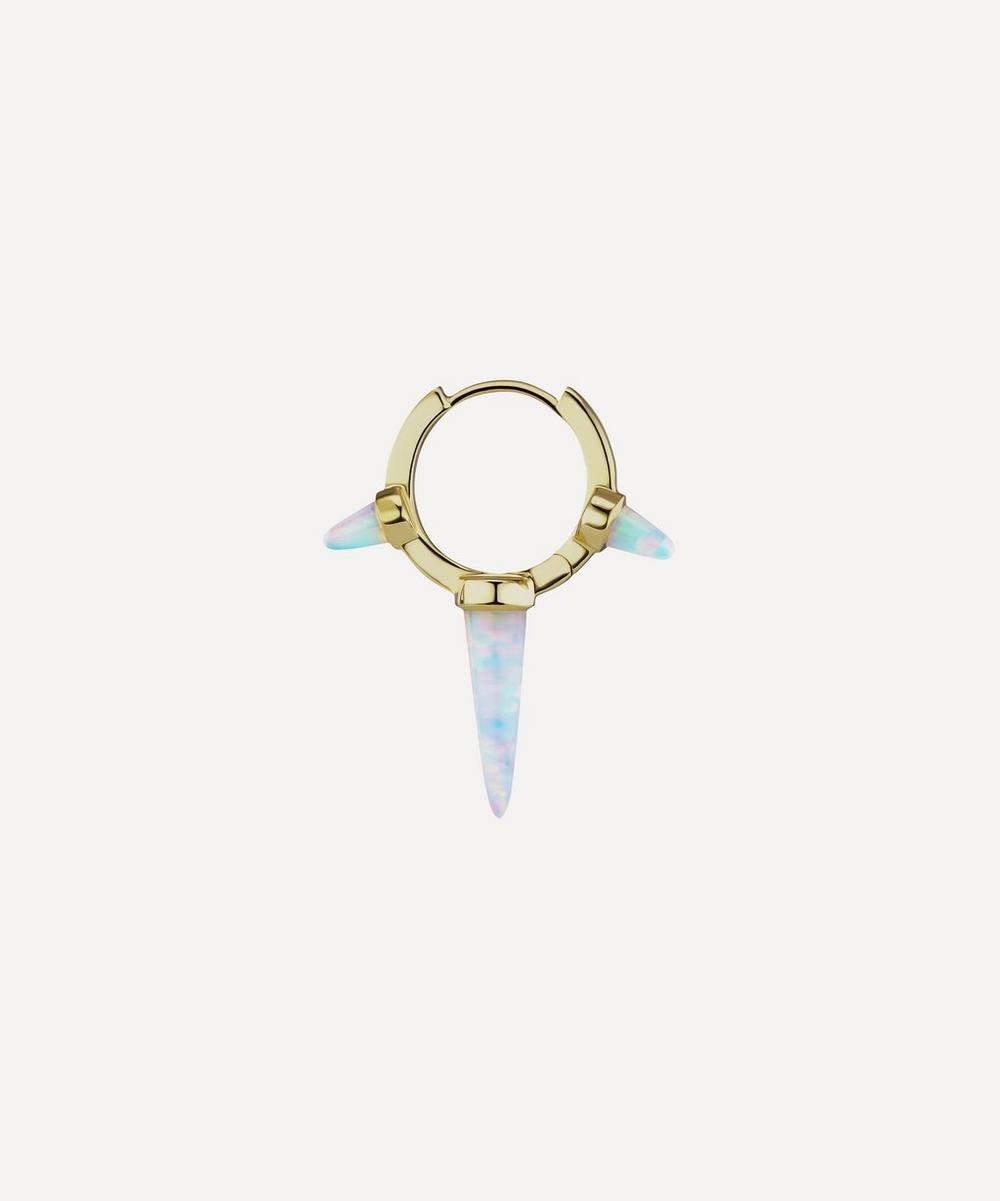 Maria Tash - 9.5mm Triple Long Opal Spike Hoop Earring