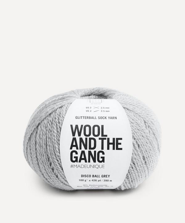 Wool and the Gang - Glitterball Sock Yarn in Disco Ball Grey