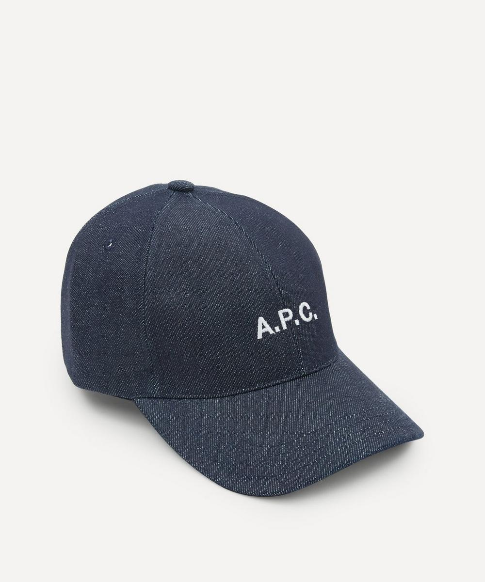 A.P.C. - Charlie Logo Denim Cap