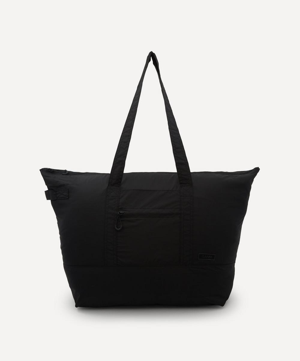 Ganni RECYCLED TECH FABRIC ZIP TOTE BAG