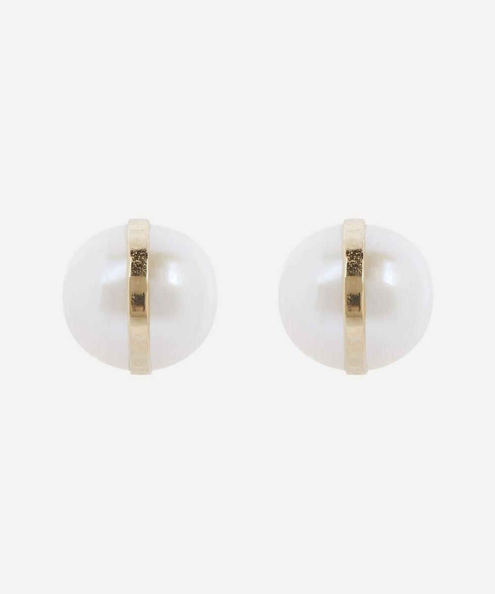 Melissa Joy Manning - 14ct Gold Pearl Stud Earrings