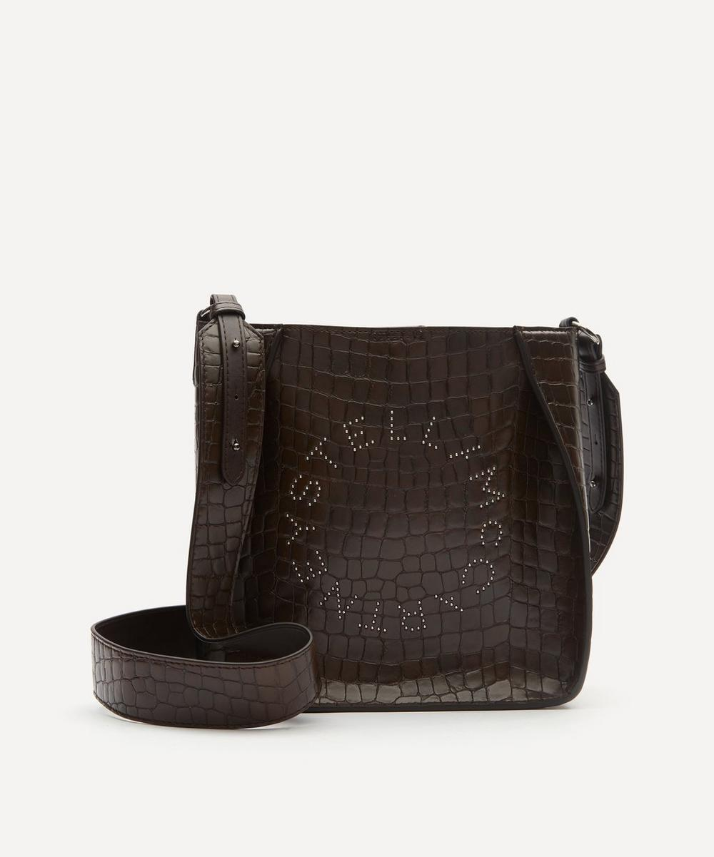 Stella McCartney - Stella Logo Croc-Effect Faux Leather Shoulder Bag