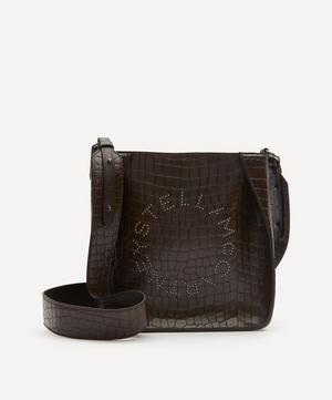 Stella Logo Croc-Effect Faux Leather Shoulder Bag