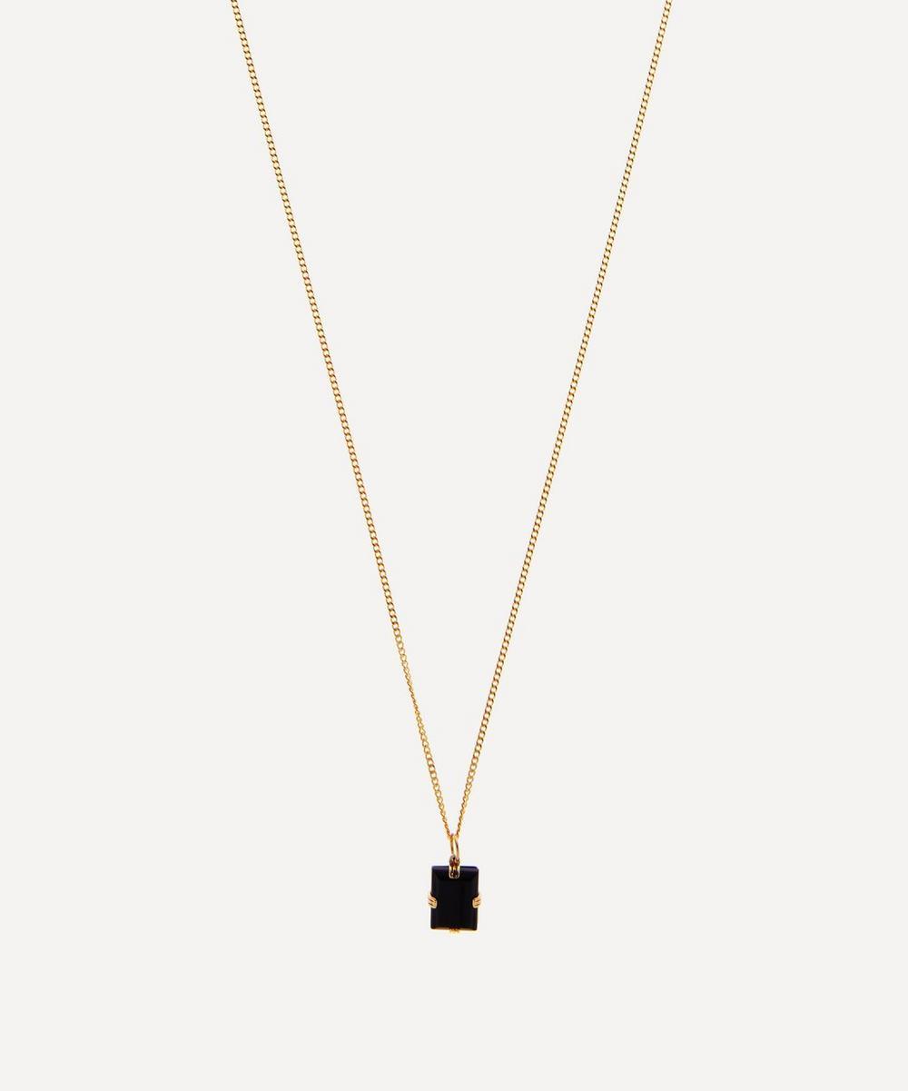 Miansai - Gold-Plated Lennox Onyx Necklace