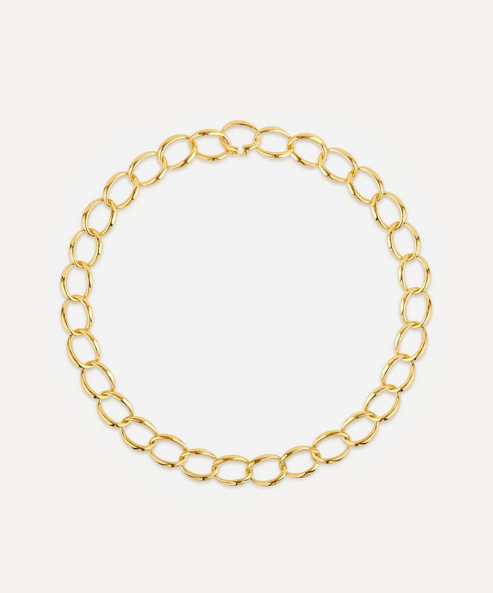 Dinny Hall - Gold Plated Vermeil Silver Handmade Medium Curb Chain Necklace
