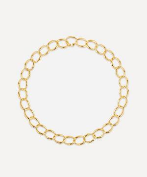 Gold Plated Vermeil Silver Handmade Medium Curb Chain Necklace