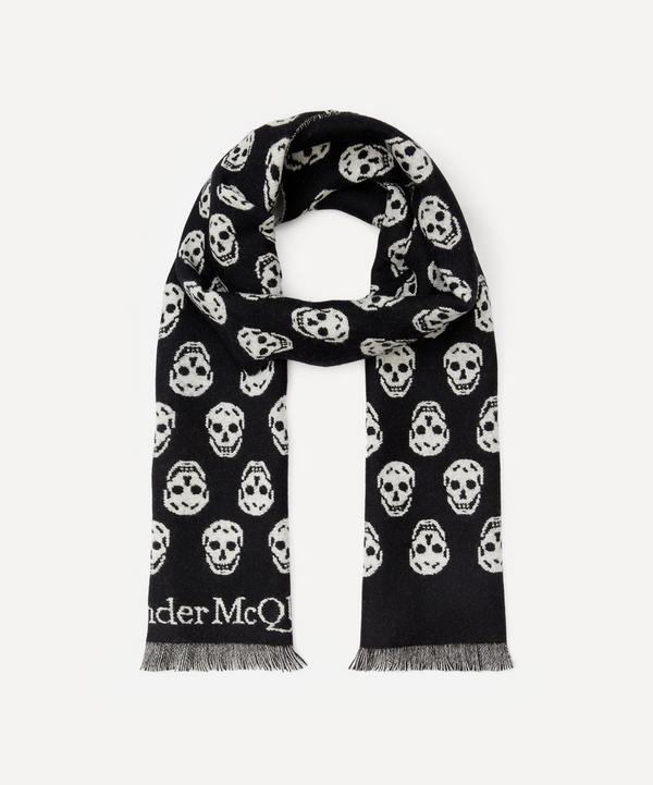 Alexander McQueen - Skull Reversible Wool Scarf
