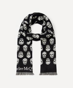Skull Reversible Wool Scarf