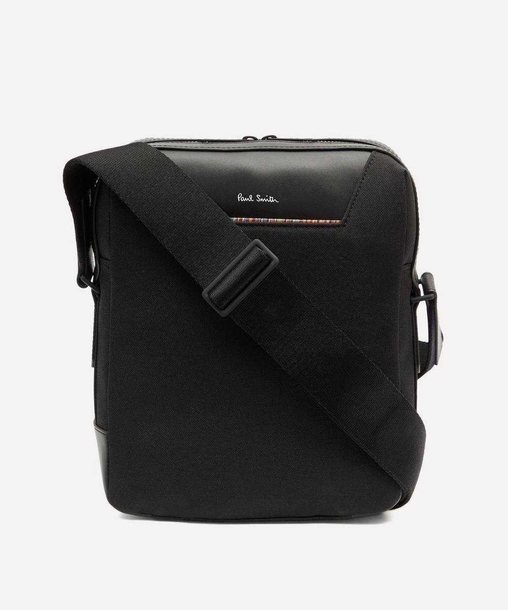 Paul Smith Canvas Travel Flight Bag In Black