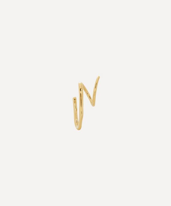 Maria Black - Gold-Plated Lake Single Twirl Earring Left