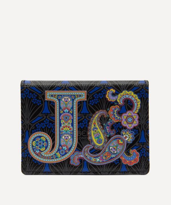 Liberty - Alphabet Travel Card Holder in J Print