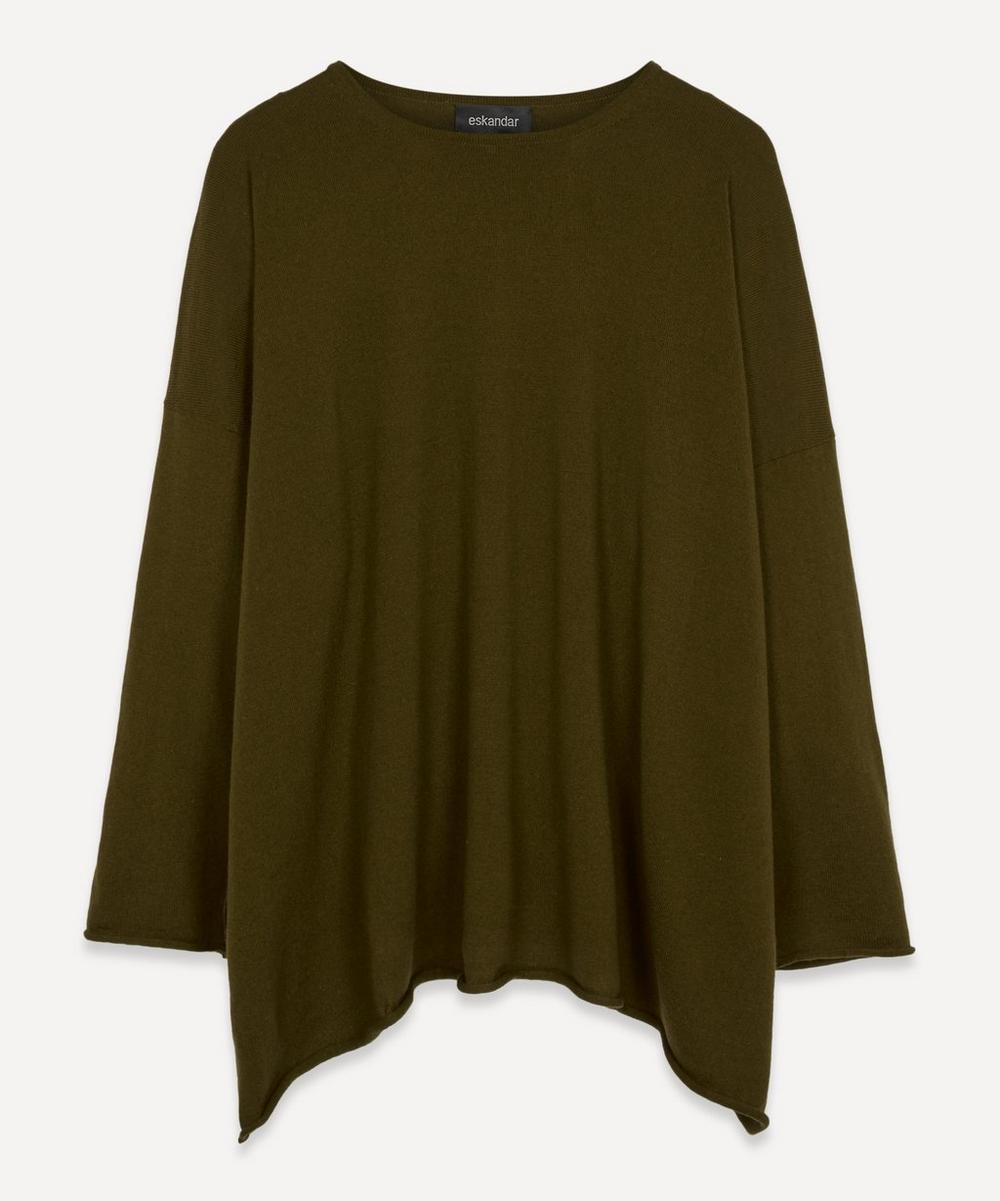 Eskandar Bateau-neck Cashmere Sweater In Moss Dark