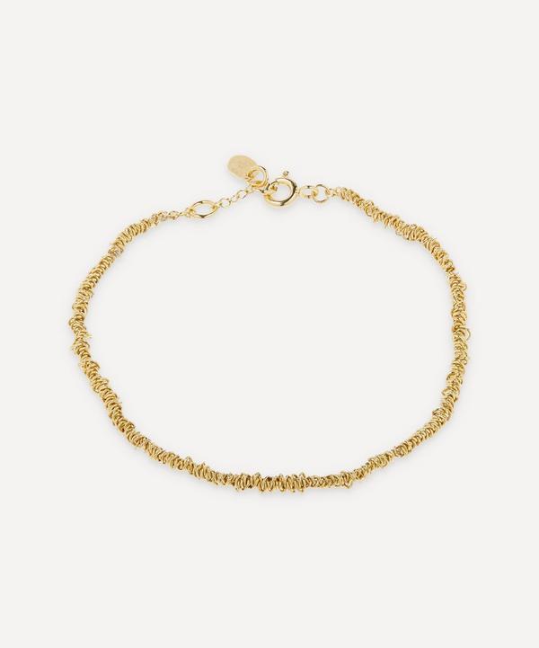 Stephanie Schneider - Gold-Plated Thin Textured Chain Bracelet
