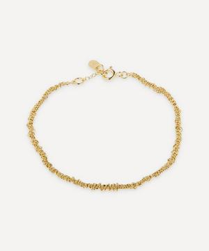 Gold-Plated Thin Textured Chain Bracelet