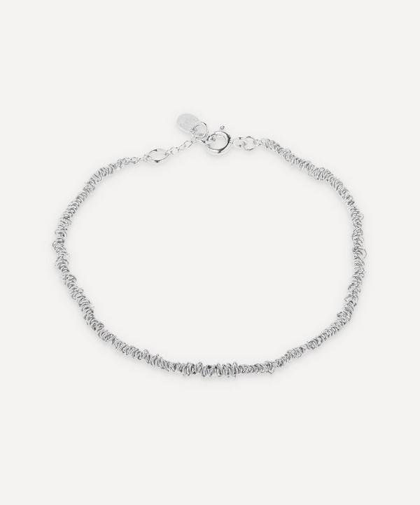 Stephanie Schneider - Silver Thin Textured Chain Bracelet