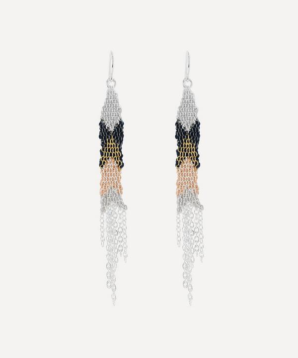 Stephanie Schneider - Silver Silk Chain Drop Earrings