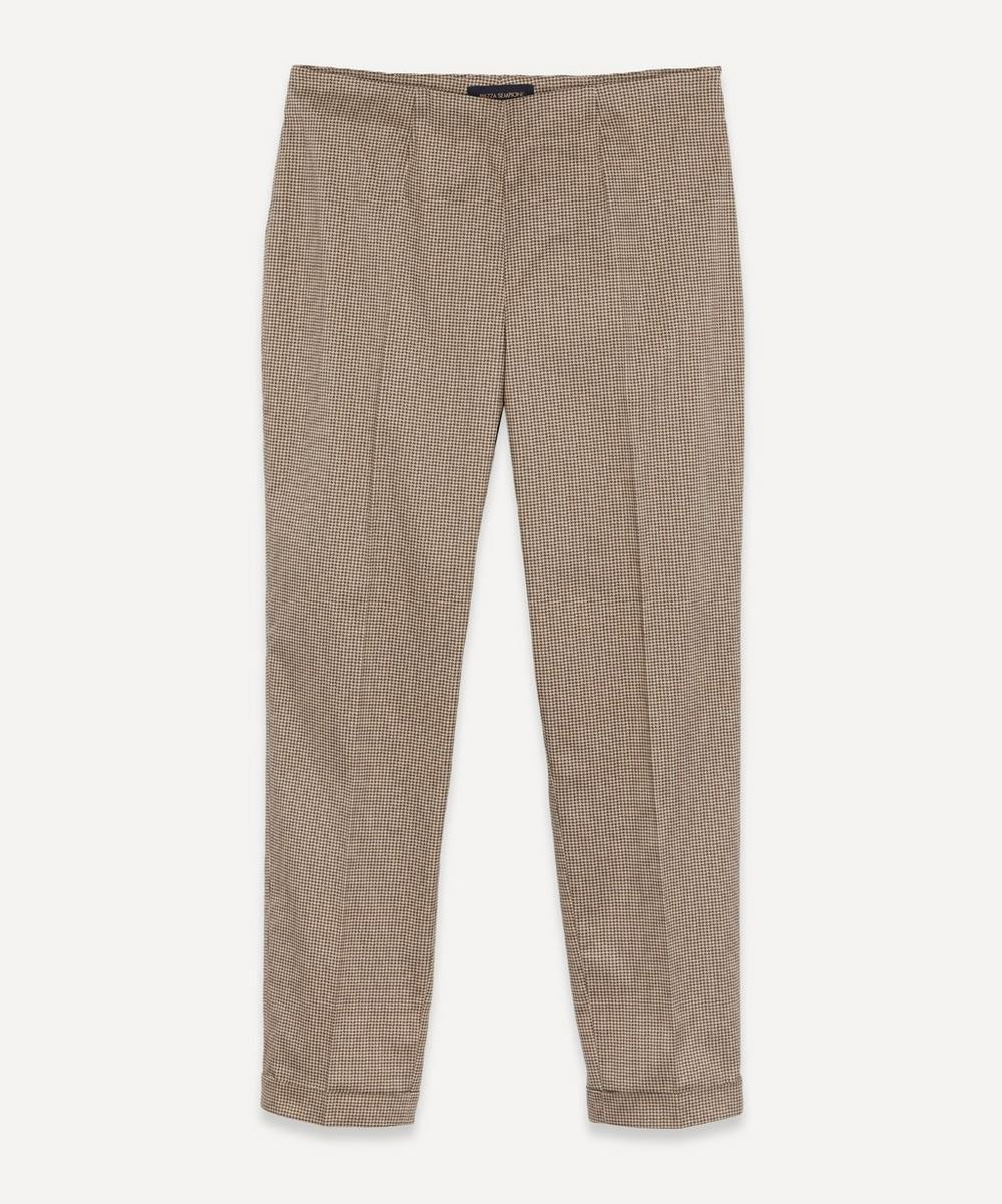 Piazza Sempione Silks HOUNDSTOOTH TAPERED TROUSERS