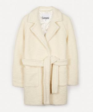 Bouclé Wool-Blend Belted Coat