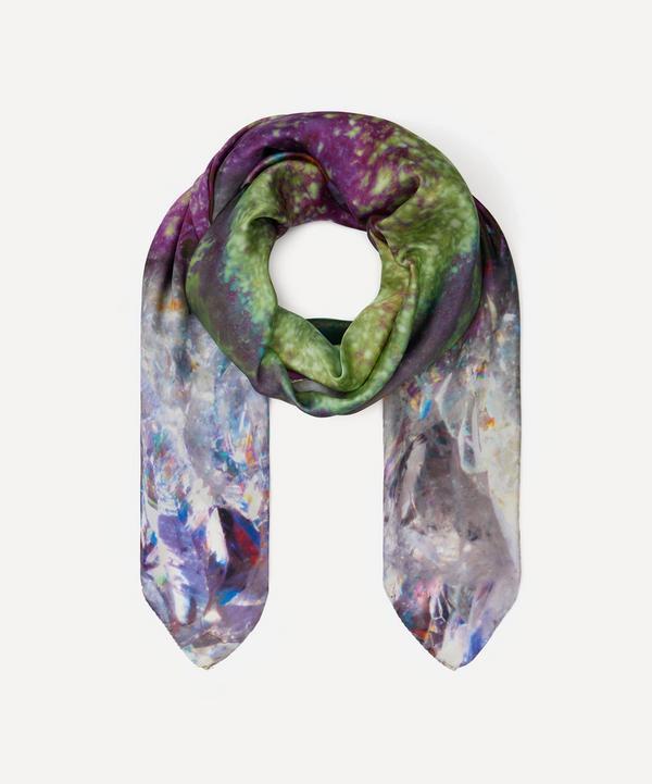 Weston - Amethyst Print Silk Scarf
