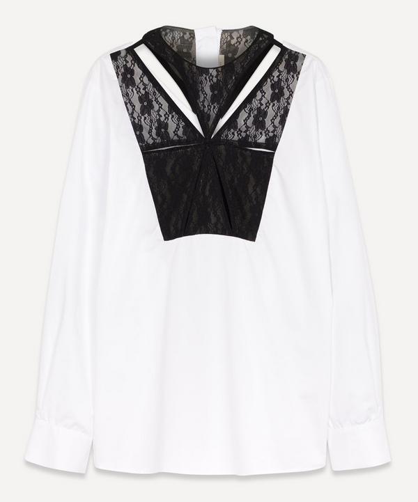 Christopher Kane - Runway Lace Panelled Shirt