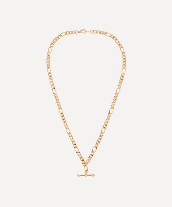 Susan Caplan Vintage - Gold-Plated 1990s T-Bar Figaro Chain Necklace