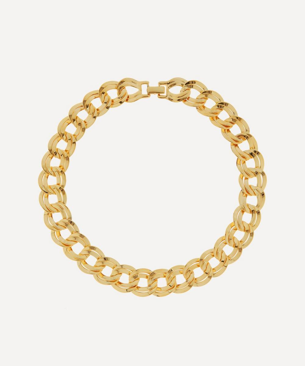 Susan Caplan Vintage - Gold-Plated 1980s Double Link Chain Necklace