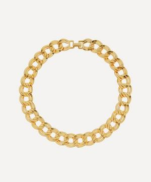 Gold-Plated 1980s Double Link Chain Necklace
